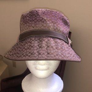 Authentic Purple COACH MINI Sig C Bucket Hat SzM/L